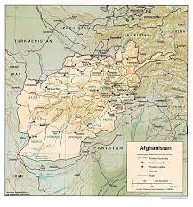 kabul map reisenett afghanistan maps