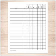 Spreadsheet For Paying Debt Bill Payment Tracker Log Year Printable Dreads And Logs