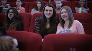 Comedy Film Video Clip | people watching comedy movie in cinema stock footage video 15745054
