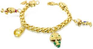 gold plated charm bracelet images Lyst just cavalli funny collection gold plated charm bracelet in jpeg