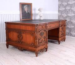 Chef Schreibtisch Englischer Chefschreibtisch Mahagoni Xxl Schreibtisch Büromöbel