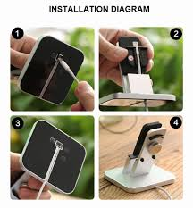 Iphone 5 Desk Stand by Phone Charging Holder Dock For Iphone 7 Plus Desktop Cradle Mount