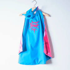 custom superhero cape and mask with slogan by alice cook designs