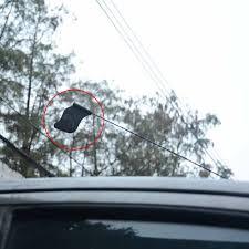 Car Antenna Flags Black Jolly Roger Pirate Flag Car Antenna Pen Topper Aerial Ball