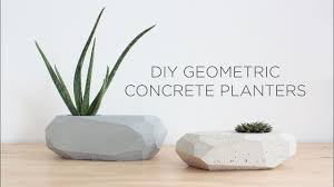 diy geometric concrete planters youtube