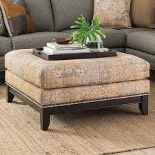 Ottoman Brothers Smith Brothers 238 Transitional Cocktail Ottoman With Nailhead