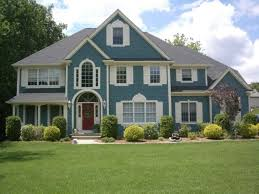 victorian home ideas with blue exterior house color combination