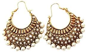fashion earrings buy hyderabad jewels fashion earring rounded shaped with semi