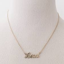 14k name necklace 52 jewelry 14k gold name necklace from a s