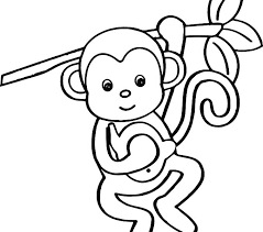 printable coloring pages monkeys monkey color page banana loving monkey coloring pages monkey color