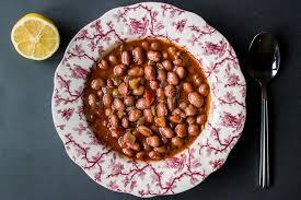 cuisine braun bean stew das türkische barbunya pilaki stockbild bild