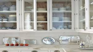 White Kitchen Cabinets With Glass Doors Kitchen Cabinet Glass Doors The Pops Of Green In With