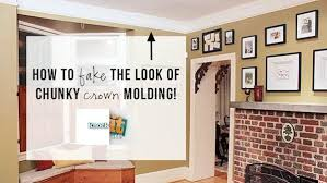 diy molding diy faux crown molding knock it off the live well network