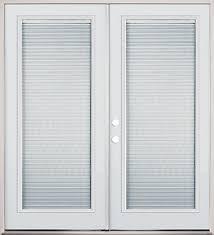 Doors With Internal Blinds 6 U0027 French Door Full Mini Blind Prehung Doors French U0026 Patio