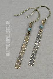 easy earrings easy embossed diy earrings happy hour projects