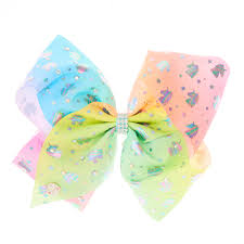 hair bow jojo siwa pastel ombre unicorn hair bow s