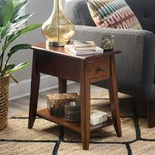 side table with power outlet end tables side tables with charging station hayneedle