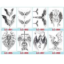 cool feather wings designs temporary tattoos