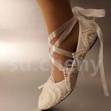 wedding shoes size 9 white pearl anklet silk lace wedding shoes flat ballet bridal