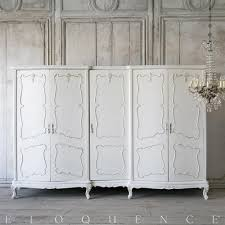 Vintage Armoire Eloquence Vintage French Louis Xv White 5 Door Armoire Kathy Kuo