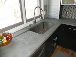Concrete Kitchen Sink by Concrete Kitchen Countertops Kitchen Modern With Concrete Counter