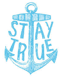 Items Similar To Nautical Anchor - stay true 8x10 vintage anchor typography design by dylanmurphy