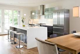 do you like the look of this corian waterfall style kitchen