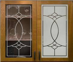 Glass Design For Kitchen Decorations Frosted Glass For Cabinet Doors Etched For Modern