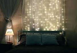 diy headboard with led lights string light headboard with lights curtain diy northmallow co