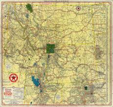 Map Montana 1937 Texaco Road Map Of Idaho Montana And Wyoming Flickr