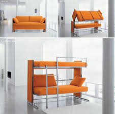 convertible sofa bunk bed space saving sleepers sofas convert to bunk beds in seconds urbanist