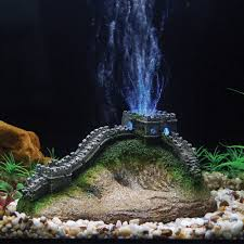wall china led aerating aquarium ornament