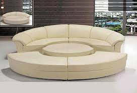 round sofa round sofa sleeper 43 leather sectionals