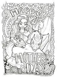 mother of dragons coloring page imgur