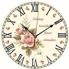 vintage wooden wall clock large shabby chic rustic kitchen home