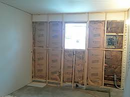 Cement Walls In Basement by Concrete How Do I Drywall Over A Partial Cement Wall Home
