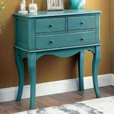 furniture of america eloisa vintage style 3 drawer hallway table