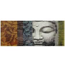 amazon com oriental furniture buddha statue canvas wall art