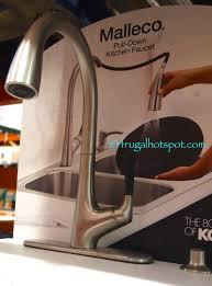 costco kitchen faucet kohler malleco pull down kitchen faucet costco frugalhotspot