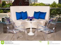 white couch with ghost chairs royalty free stock images image