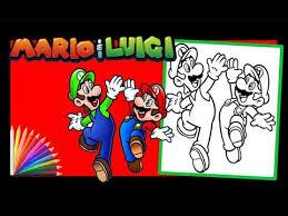 Coloriage Pour Enfants Mario et Luigi Coloring Page For Kids Mario