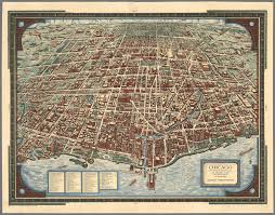 City Of Chicago Map by 1938 Map Of Chicago The Greatest Inland City In The World Chicago