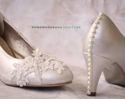 wedding shoes low heel ivory ivory wedding shoes etsy