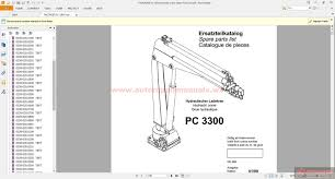 palfinger pc 3300 hydraulic crane spare parts list auto repair