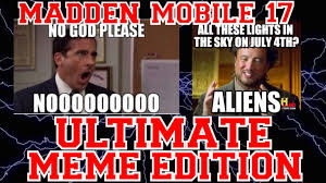 Mobile Meme - madden mobile 17 ultimate meme edition youtube