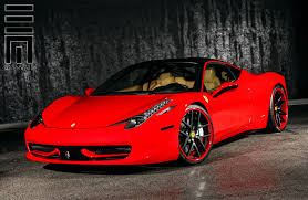 ferrari custom ferrari 458 on colormatched custom wheels by exclusive motoring