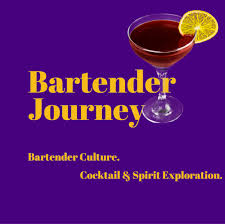 martini glass logo bartender journey cocktails spirits bartending culture