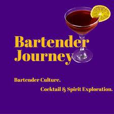 martini glass logo bartender journey cocktails spirits bartending culture
