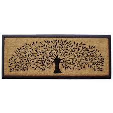 rubber and coir tree of door mat temple webster