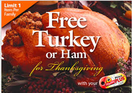 shoprite free turkey or ham for thanksgiving offer is back hams